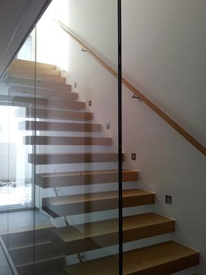 Absturzsicherung Treppe galerie treppenverglasung glaserei wenzel münchen