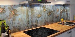 Nischenglas Küche | Kuchenruckwand Aus Glas Glaserei Wenzel Munchen